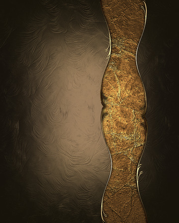 Brown background with an old copper plate. Design template. Design site photo