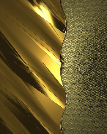 Abstract golden background with gold trim. Design template. Design site photo