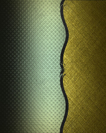 Green and gold background separated by black trim  Design template  Design site photo