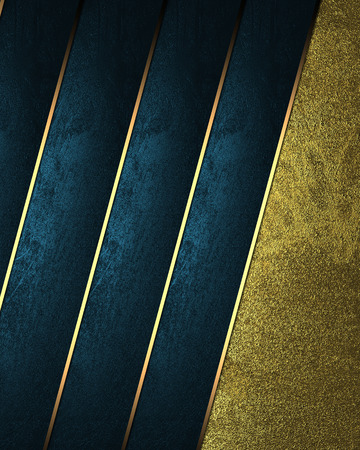classy background: Abstract blue background with grunge gold with blue ribbons. Design template. Design site