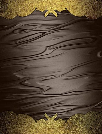 classy background: Abstract brown background with golden edges. Design template. Design site
