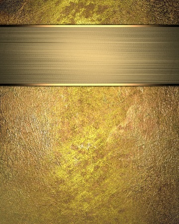 classy background: Grunge gold texture with gold divorce with gold ribbon. Design template Stock Photo