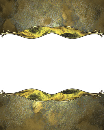 white trim: Grunge texture with a beautiful gold trim and a white cutout