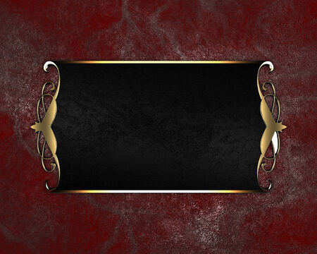 Grunge red texture background with black nameplate Stock Photo