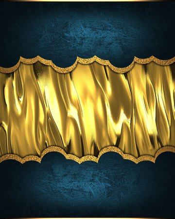 nameplate: Blue template with gold nameplate