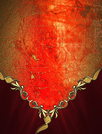red and gold: Grunge red gold texture with red angles