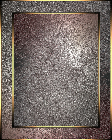 Grunge-ply plate with gold border. Design template Imagens