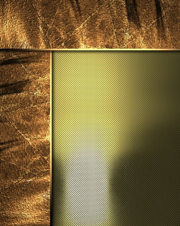 side plate: Abstract gold background with grunge side plate. Template for design. Template for the site