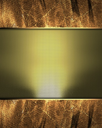 Grunge metal frame with golden mean. Template for design. Template for the site photo