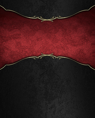 Black velvet background with red velvet tablet. Template design for text. Template for site Фото со стока