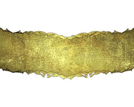 nameplate: Template design gold nameplate. Template Design. Stock Photo