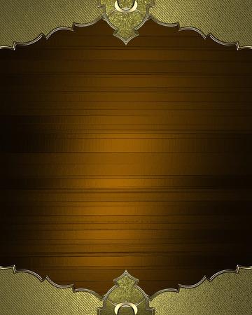 cadre antique: Brown plaque avec un cadre antique. Mod�le de conception. Design site