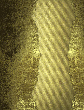 inset: Grunge gold background with inset. Design template