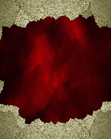 torn edges: Gold Element for design. Template for design. Red texture with gold torn edges Stock Photo
