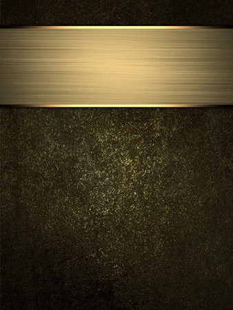 metall texture: Abstract grunge metall texture with gold nameplate