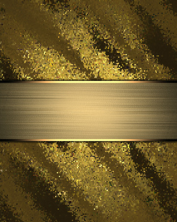 nameplate: Abstract rich gold background with gold nameplate.