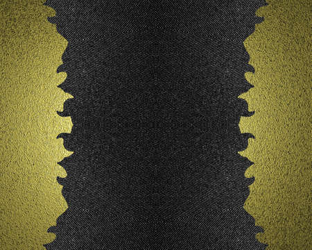 torn edges: Black background with golden torn edges. Element for design. Template for design.
