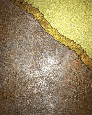 gold corner: Abstract grunge background with gold corner. Element for design. Template for design