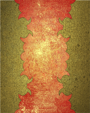durability: Gold background with red worn pattern. Element for design. Template for design. Abstract grunge background.