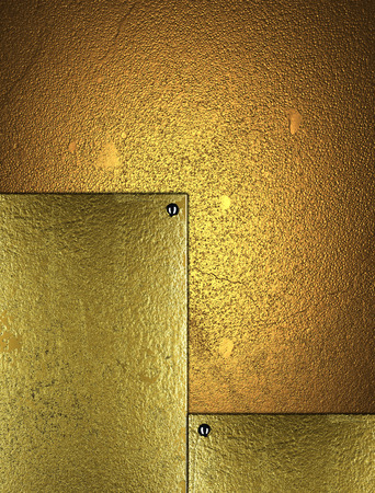 inserts: Grunge gold background with gold inserts. Element for design. Template for design.