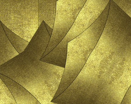 christmas border: Abstract gold background from pieces of metal. Template for decorating site text, the certificate presentation