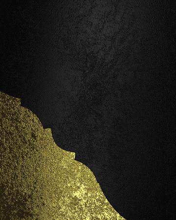 grunge edge: Black velvet background with gold grunge edge. Element for design. Template for design. copy space for ad brochure or announcement invitation, abstract background
