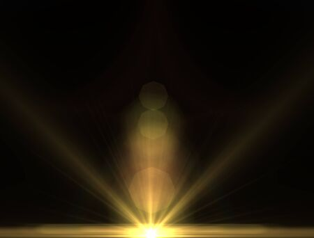 stare: Design template - Yellow Star, sun with lens flare. Rays background.