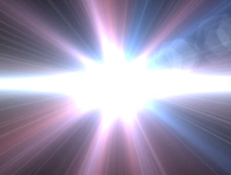 stare: Design template - Star, sun with lens flare. Rays background. Red and blue star Stock Photo