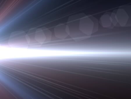 trek: Design template - Blue Star, sun with lens flare. Rays background.