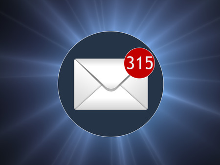 unsolicited: Many letters in the box. Concept SPAM. Many e-mail