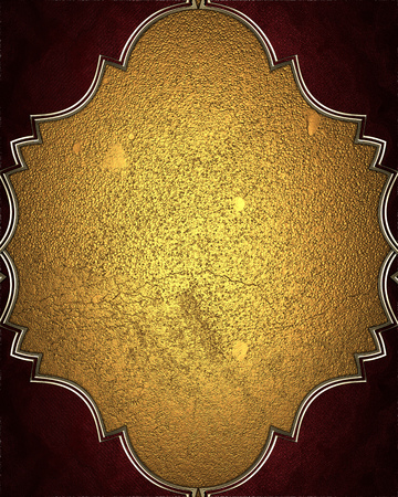 FANCY BORDER: Gold Element for design. Template for design. copy space for ad brochure or announcement invitation, abstract background