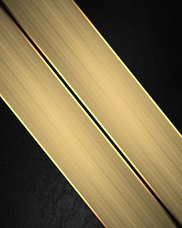 black velvet: Black velvet texture with gold ribbon. Element for design. Template for design. Stock Photo