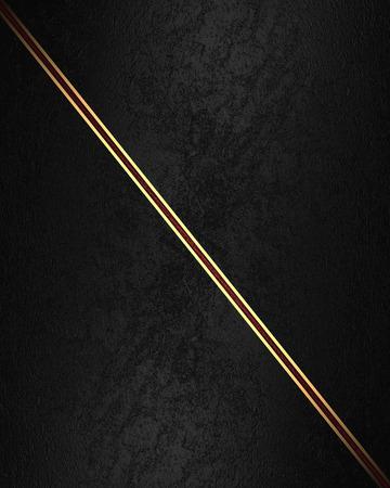velvet texture: Black velvet texture with gold ribbon. Element for design. Template for design. Stock Photo