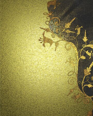 textura oro: Gold texture with flower pattern