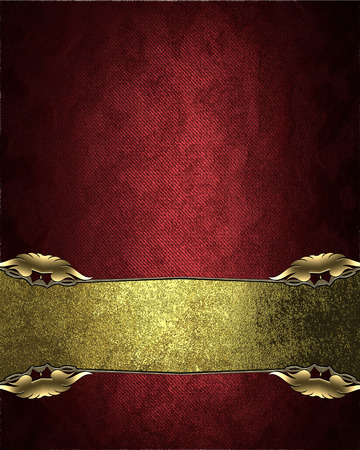 velvet texture: Red velvet texture with a rich golden nameplate. Element for design. Template for design. copy space for ad brochure or announcement invitation, abstract background