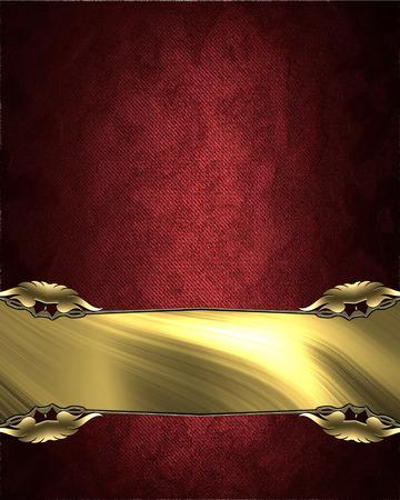 velvet texture: Red velvet texture with a rich golden nameplate.