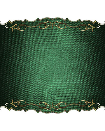 Green nameplate for text with gold border.