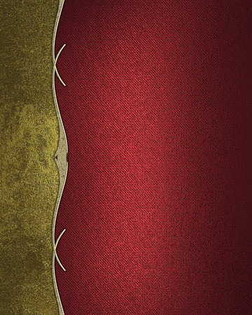paper old: Red grunge texture with gold edge.