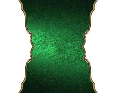 nameplate: Green nameplate isolated white background. Stock Photo