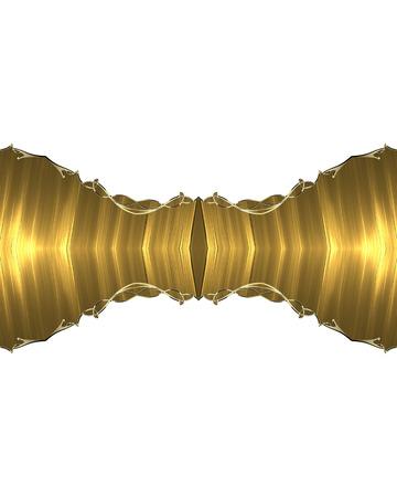 dekoracja: Golden decoration. Zdjęcie Seryjne