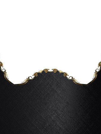nameplate: Black nameplate with gold edges.