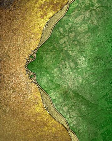 grunge edge: Yellow grunge edge on a green background