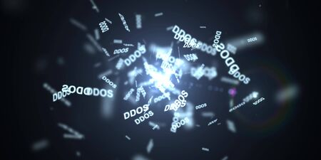 data entry: DDOS Attack, Infection trojan, virus attacks Stock Photo