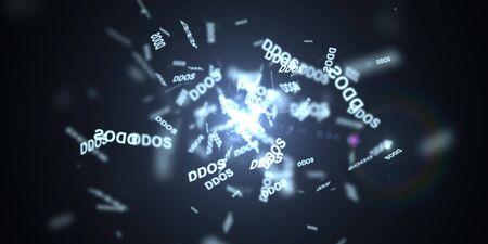 denial: DDOS Attack, Infection trojan, virus attacks Stock Photo
