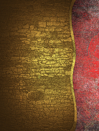 grunge edge: Cracked yellow texture red grunge edge. Template for design. copy space for ad brochure or announcement invitation, abstract background. Stock Photo