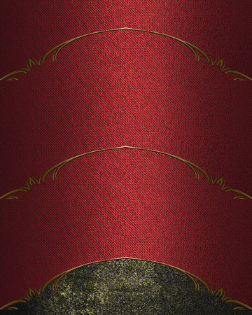 grunge edge: Red texture with grunge edge. Template for design. copy space for ad brochure or announcement invitation, abstract background.