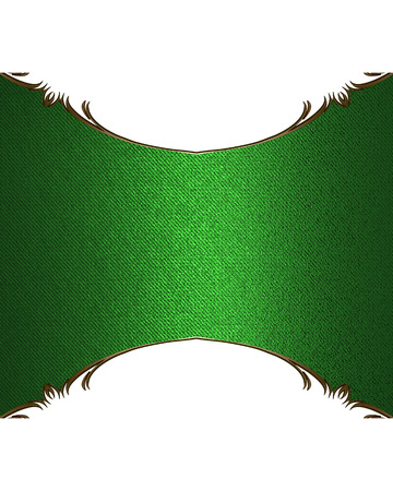 Green nameplate. Template for design. copy space for ad brochure or announcement invitation, abstract background.