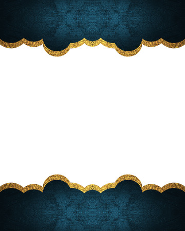 ad space: Decorative blue frame. Template for design. copy space for ad brochure or announcement invitation