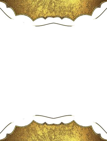 ad space: Decorative yellow frame. Template for design. copy space for ad brochure or announcement invitation Stock Photo