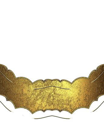 ad space: Gold Decorations on white background. Template for design. copy space for ad brochure or announcement invitation